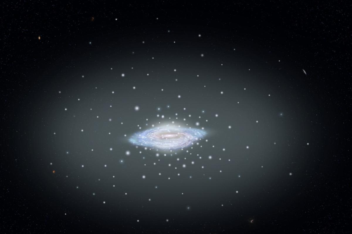 Astronomers have measured the mass of the Milky Way by studying the movements of orbiting clusters of stars