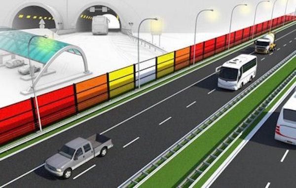 Solar technology developed by Michael Debije at the Eindhoven University of Technology is being tested in noise barriers along the A2 highway in the Netherlands