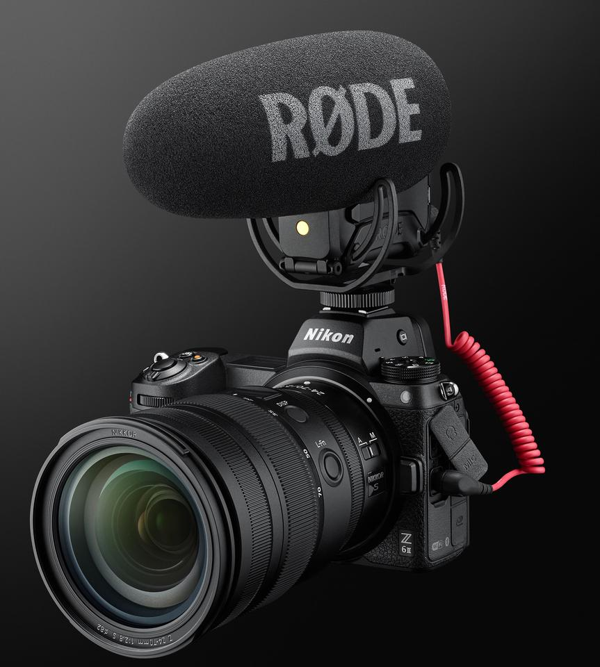 The Z6 II comes with a built-in stereo microphone, or external mics can be mounted to the shoe