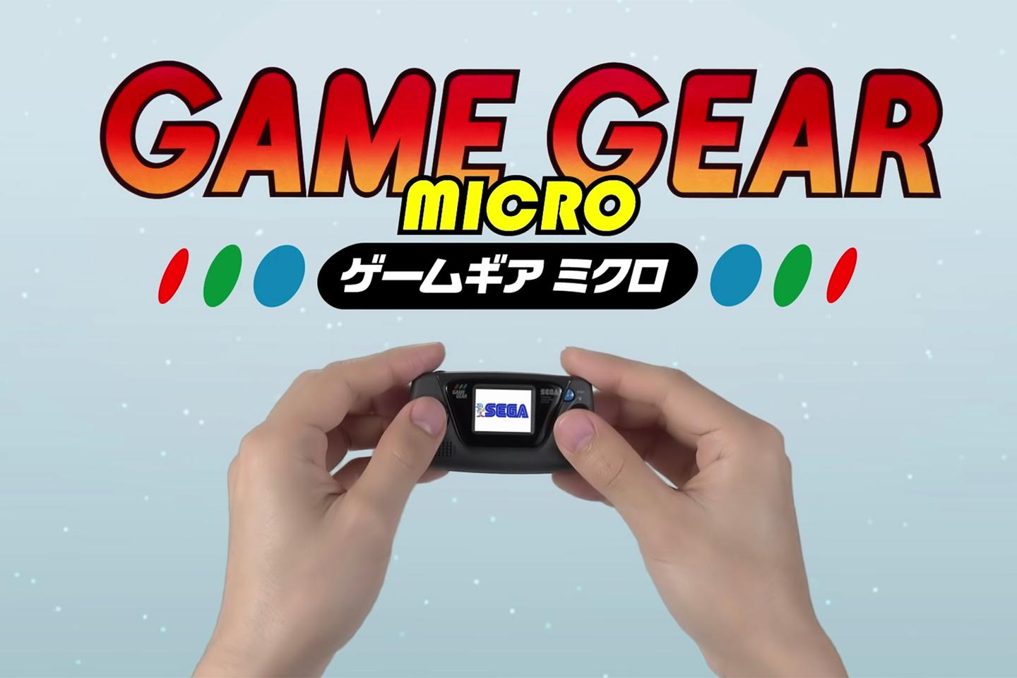 Sega has shrunk down the 1990 Game Gear