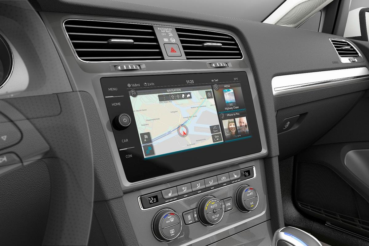 The gesture control functionality is powered by the latest version of VW's Modular Infotainment Toolkit (MIB)