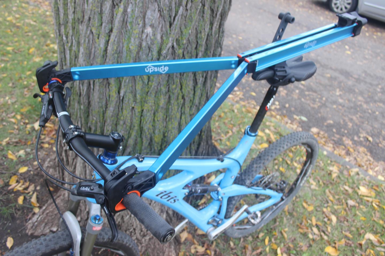The Upside Rack, mounted on a mountain bike