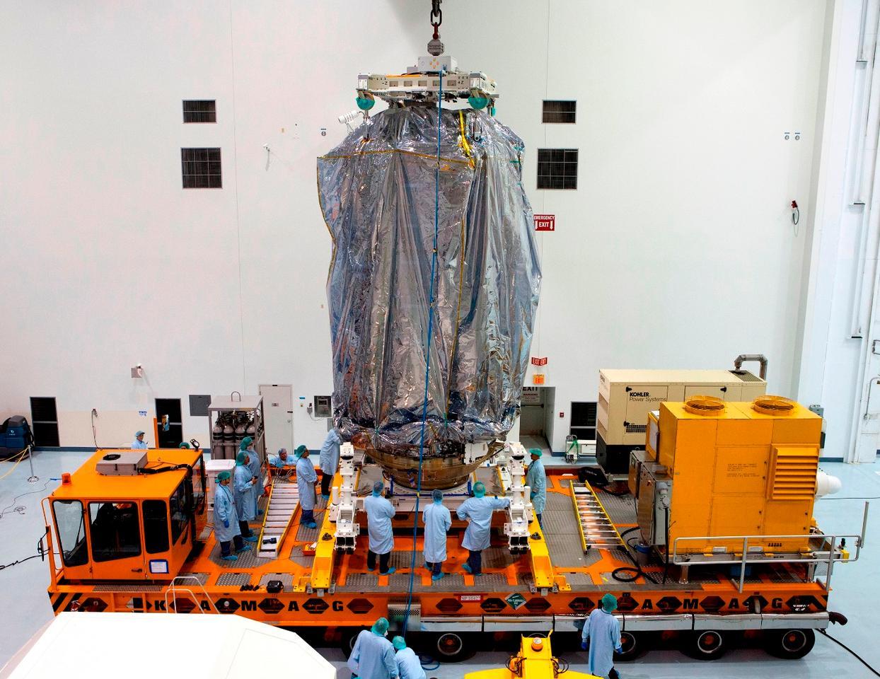 Cygnus spacecraft prepared to move