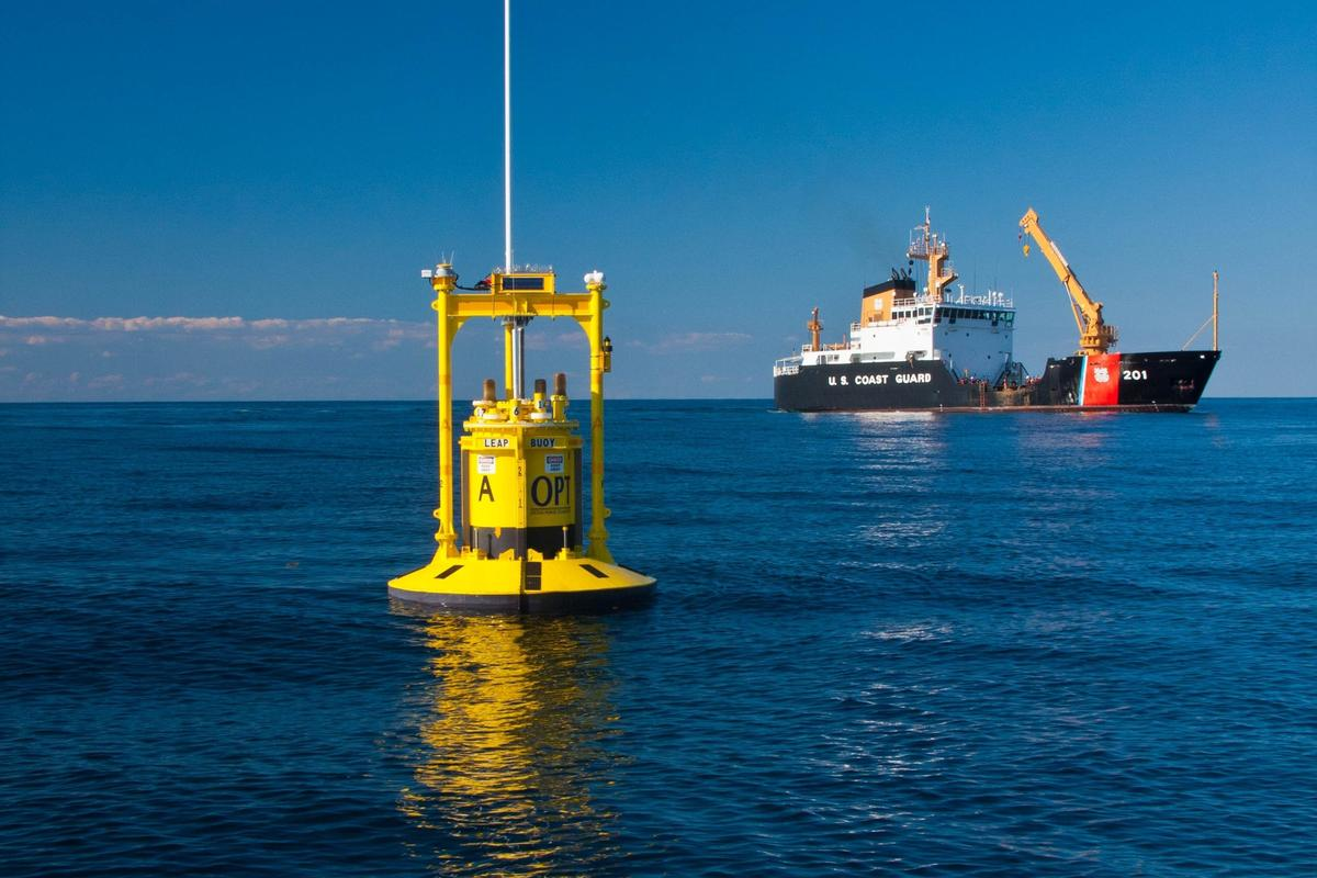 LEAP Autonomous PowerBuoy deployed off New Jersey (Image: Michael Smith, Rutgers University - Institute of Marine and Coastal Sciences)