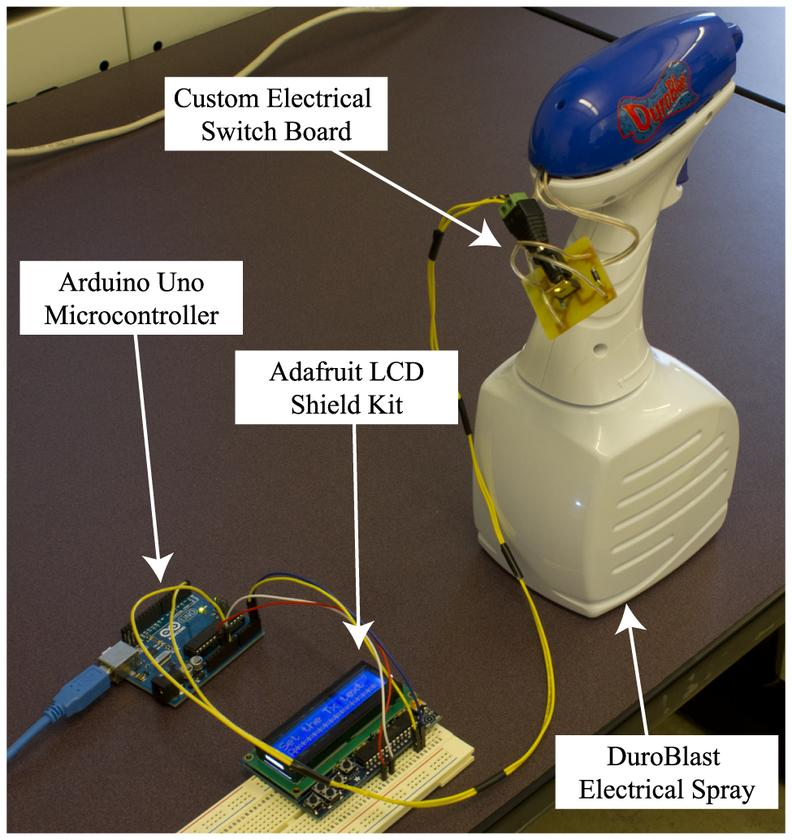 The transmitter made from a spray bottle and off-the-shelf electronics (Image: Nariman Farsad,Weisi Guo, Andrew W. Eckford / PLOS ONE)