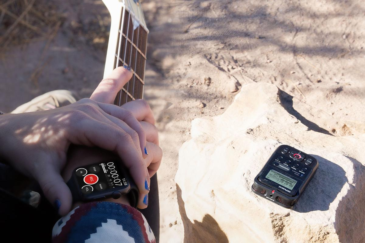 The Roland R-07 can be monitored and controlled using a smartphone or smartwatch