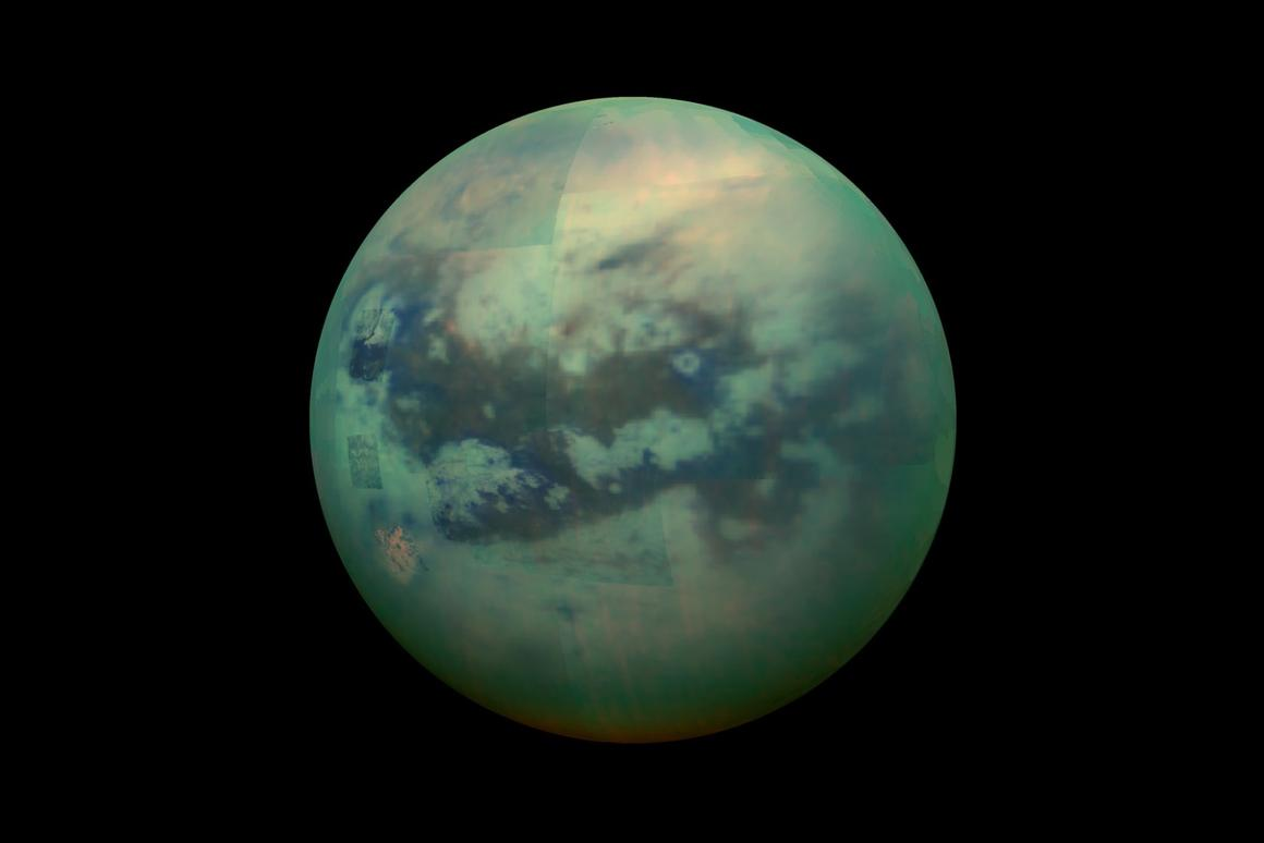 A composite image of Titan