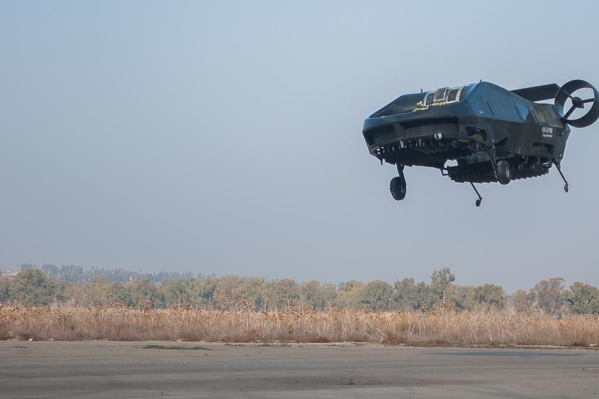 No strings attached – the AirMule flies untethered in northern Israel