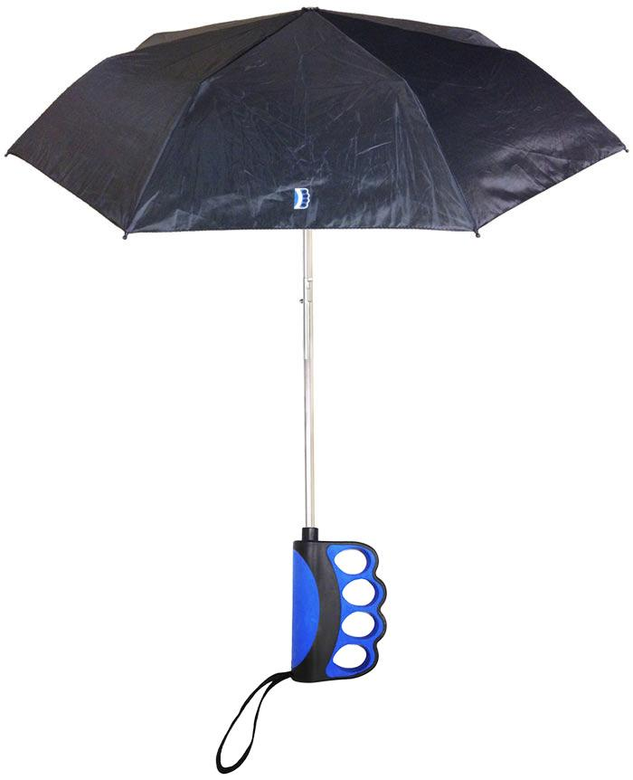 A four-finger ergonomic grip is the main selling point of Brolly, compared to other umbrellas on the market