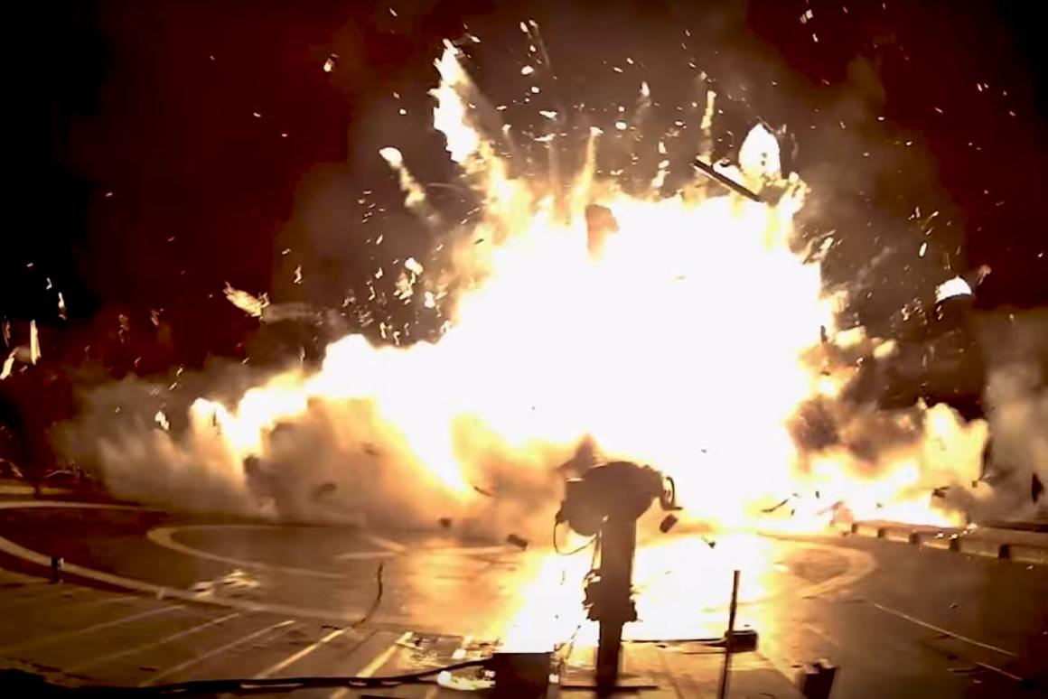 The video shows the failures that led to the first Falcon 9 booster landing