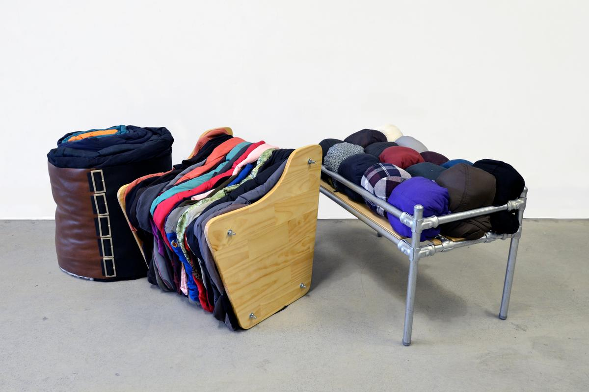 Melbourne RMIT Bachelor of Design graduate, Michelle McDonell has come up with an innovative way to recycle old clothing into DIY furniture pieces