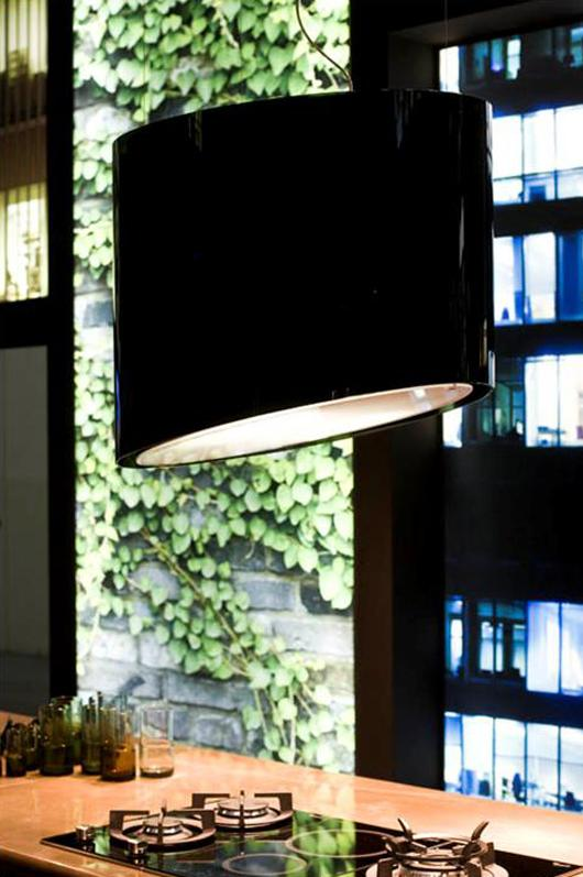 "Snaidero's ""green"" rangehood sanitizes the air using air ionizing technology"