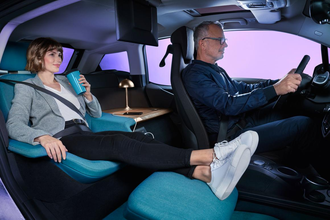 Plenty of room to stretch out and enjoy the ride in the BMW i3 Urban Suite