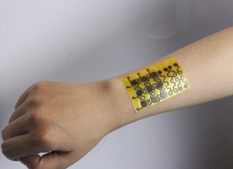 The electronic skin is described as malleable, can be healed when cut and is fully recyclable