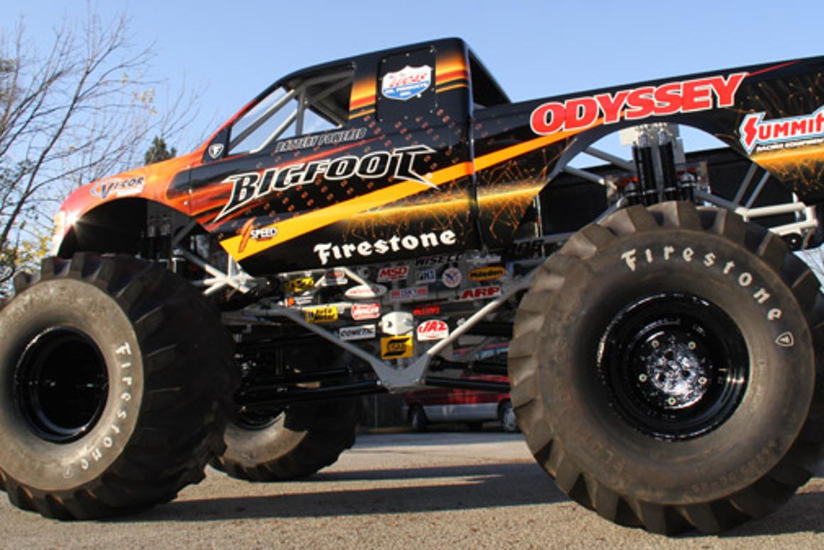 BIGFOOT goes electric with a 350 hp motor powered by 30 car batteries