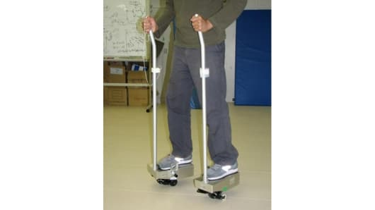 The personal mobility device prototype developed by Nissan and Japan's AIST