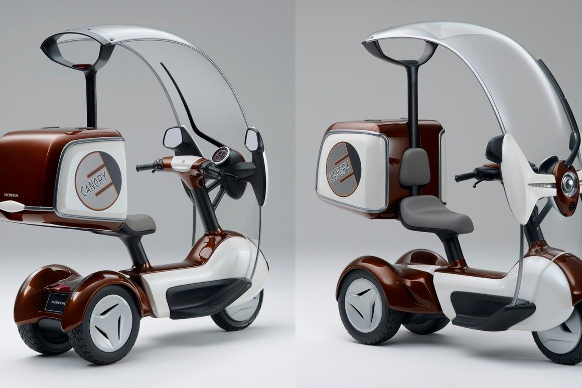 Honda's electric Canopy (Gyro) 3-wheeler