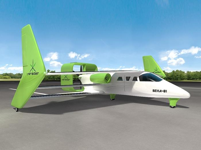 The BEHA has electric ducted fans (Image: Faradair)