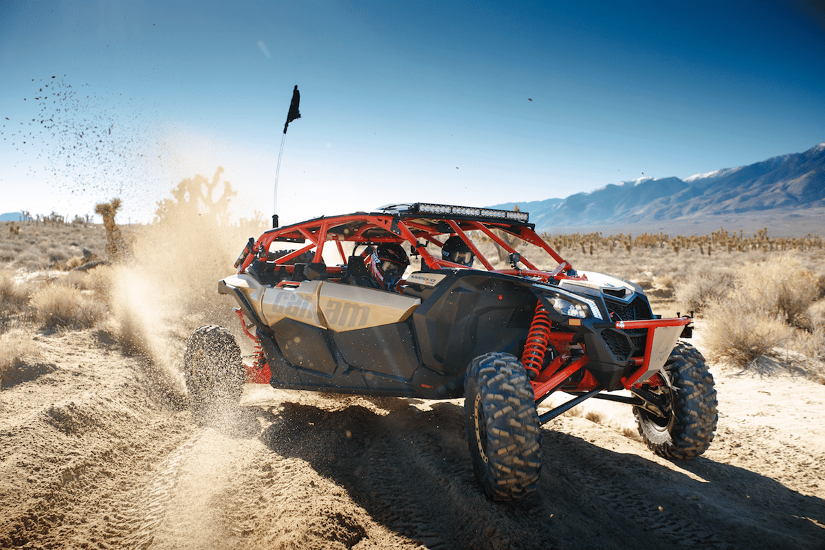 The Can-Am Maverick X3 Max provides a thrilling ride for four