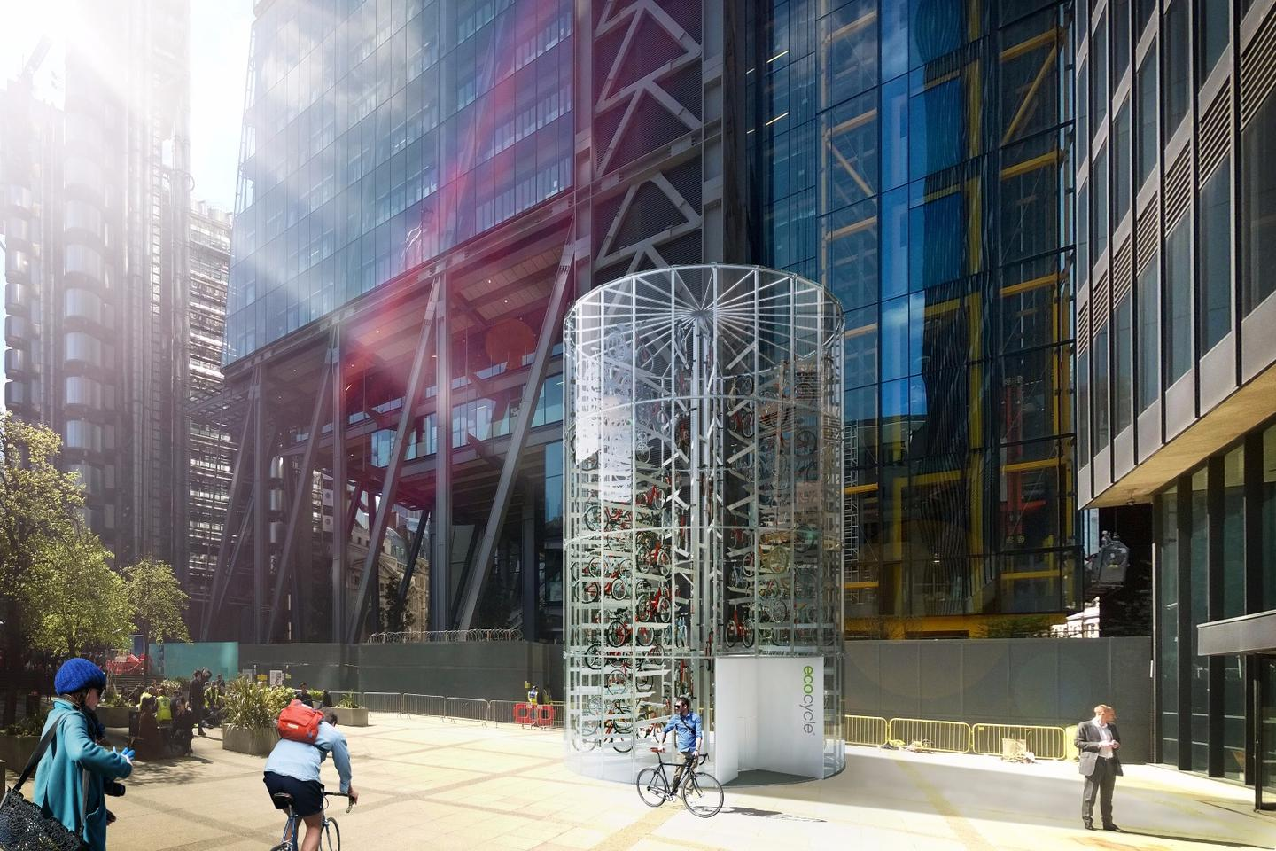 Eco Cycle towers are said to take up just six percent of the space required to accommodate the same number of bikes within 2-tier racking