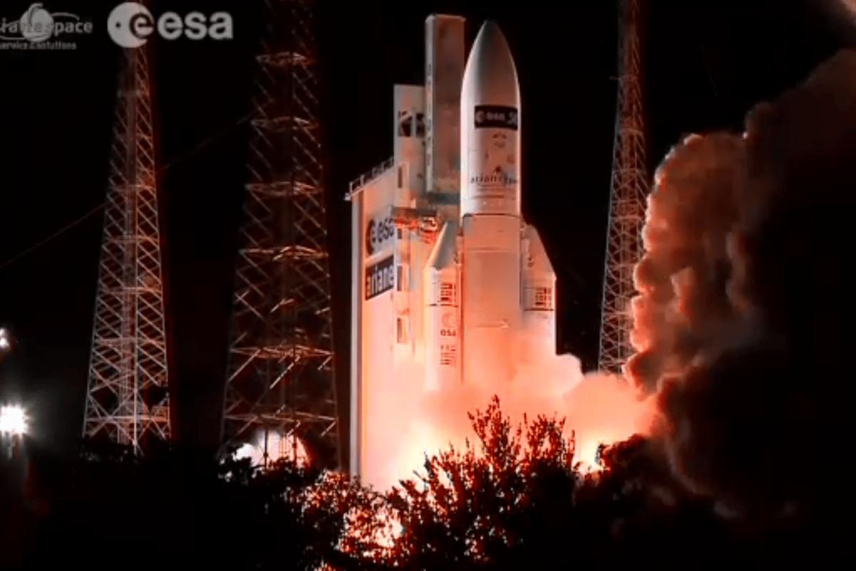 The ATV-5 mission lifting off (Image: ESA)
