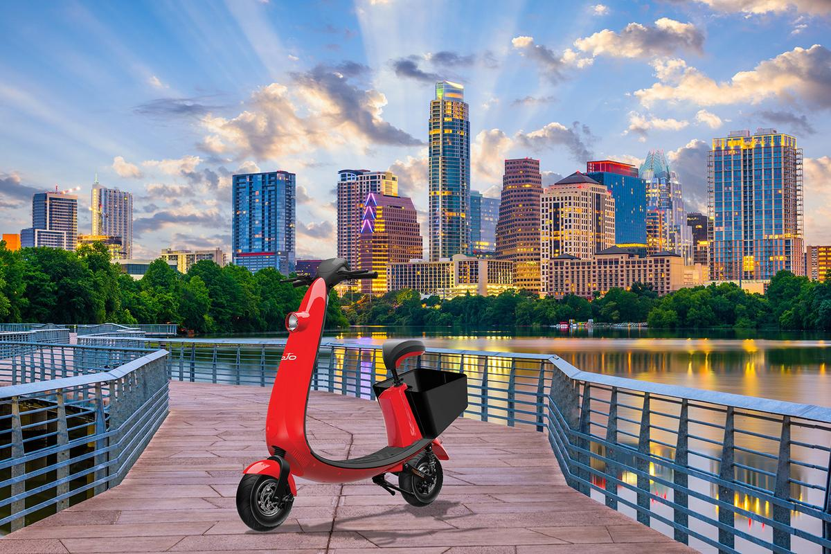 OjO Electric and Austin Commuter Scooter will give ridesharers the opportunity to stand or sit while scooting through Austin
