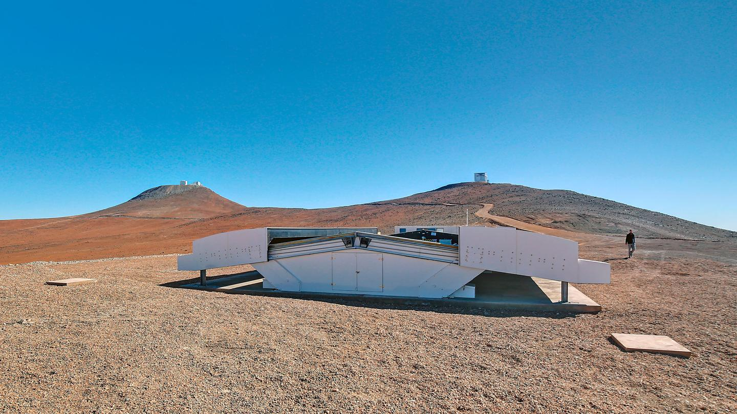 This NGTS enclosure at the ESO's Paranal Observatory in Chile (Photo: ESO/R. Wesson)