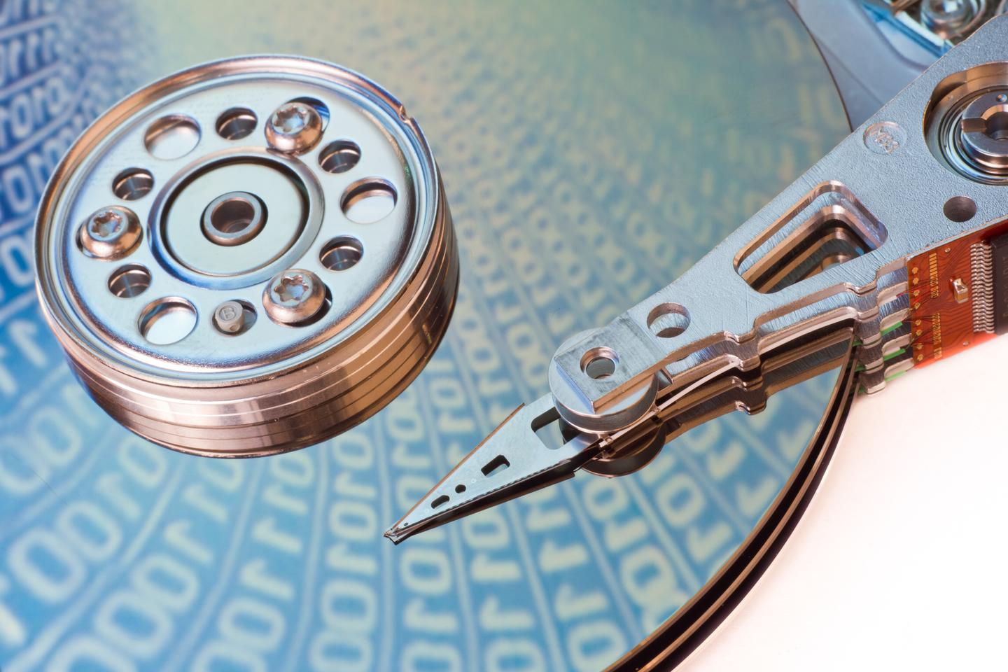Researchers have used graphene to increasing the operating temperature and data density of HDDs
