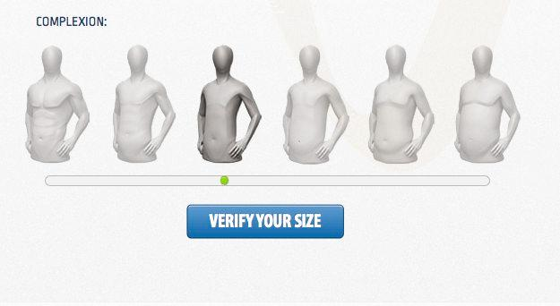 The Verisize app is designed to determine what size of clothing a person takes, without requiring them to take a series of measurements