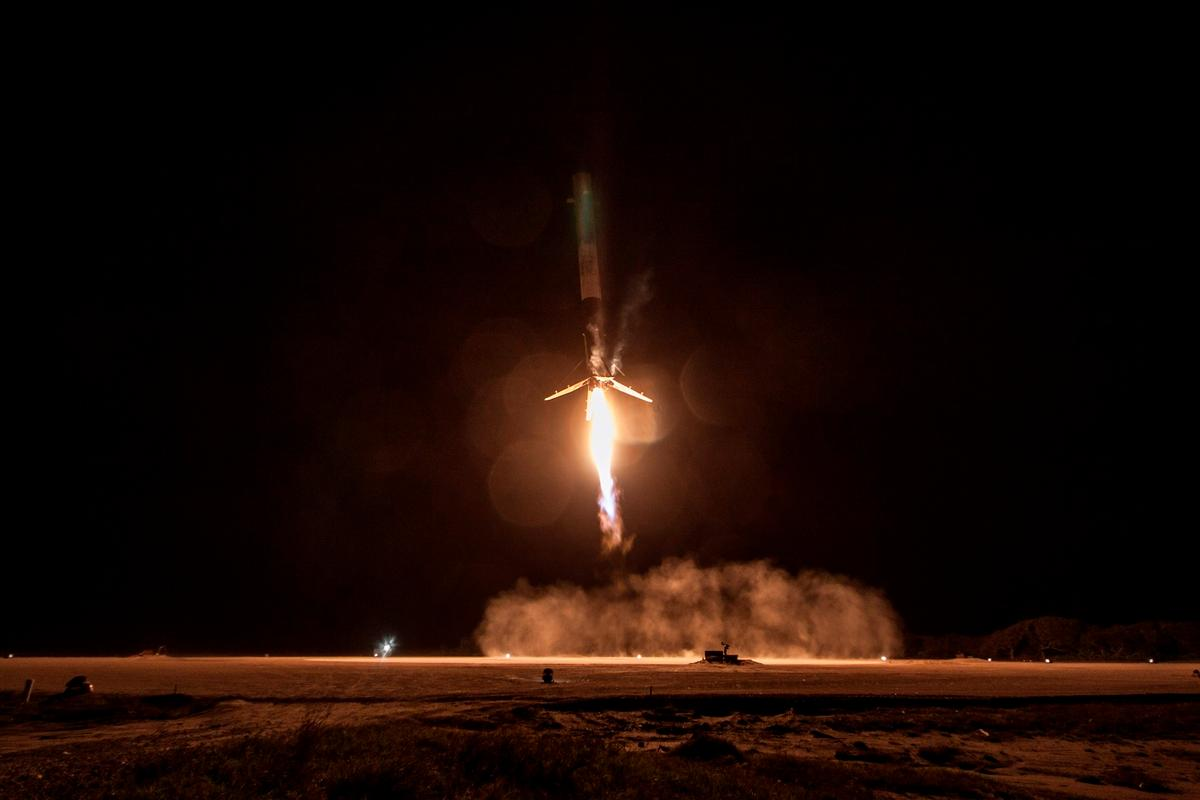 The Falcon 9 made the first controlled powered landing by a space rocket