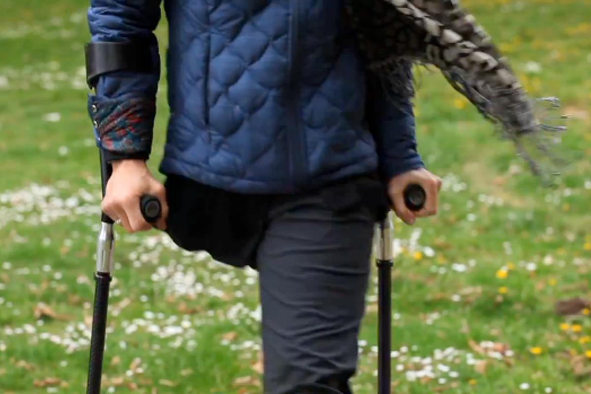 "SideStix are ""sports crutches,"" designed for active users"