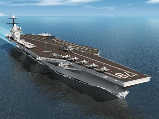 The Gerald R Ford class carriers will have a larger flight deck, improved weapons handling and a new A1B nuclear propulsion and electricity generation system