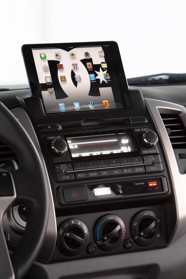 The integrated iPad mini provides entertainment, navigation and more