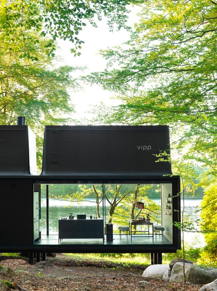 "The Vipp Shelter is described by the firm as a ""battery charging station for humans"""
