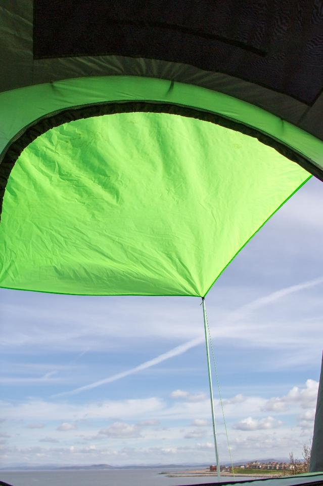 The Cinch includes dual awnings for added weather protection