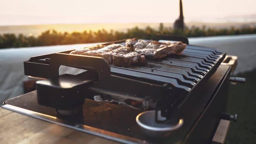 Cook directly over top the coals or crank the grill higher to control the heat and prevent burning