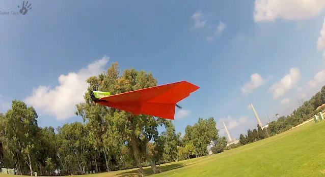 PowerUp 3.0 is a kit that allows users to remotely control a powered paper airplane, using their smartphone
