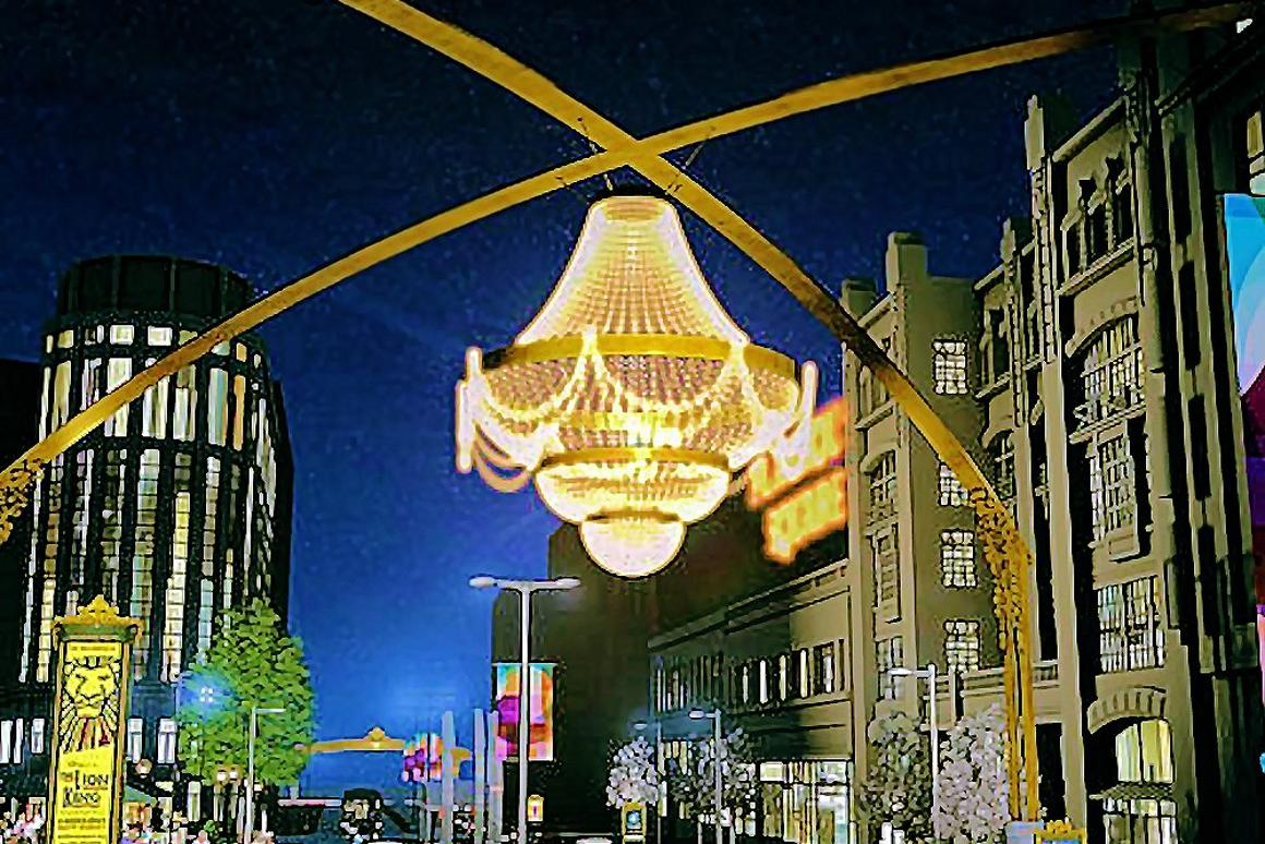 World S Largest Outdoor Chandelier To Illuminate Cleveland S