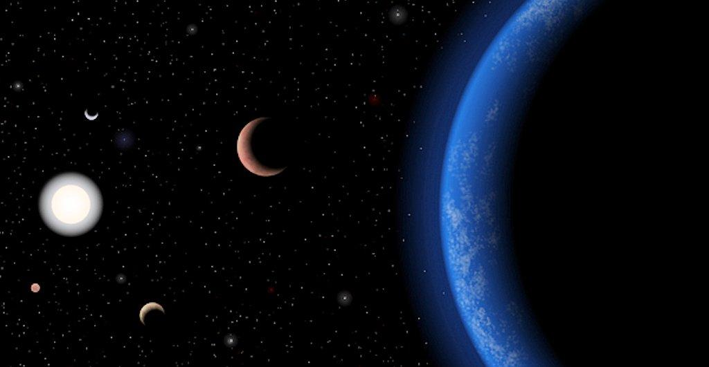 Artist's conception of the five-planet Tau Ceti system (Photo: J. Pinfield/RoPACS/University of Hertfordshire)