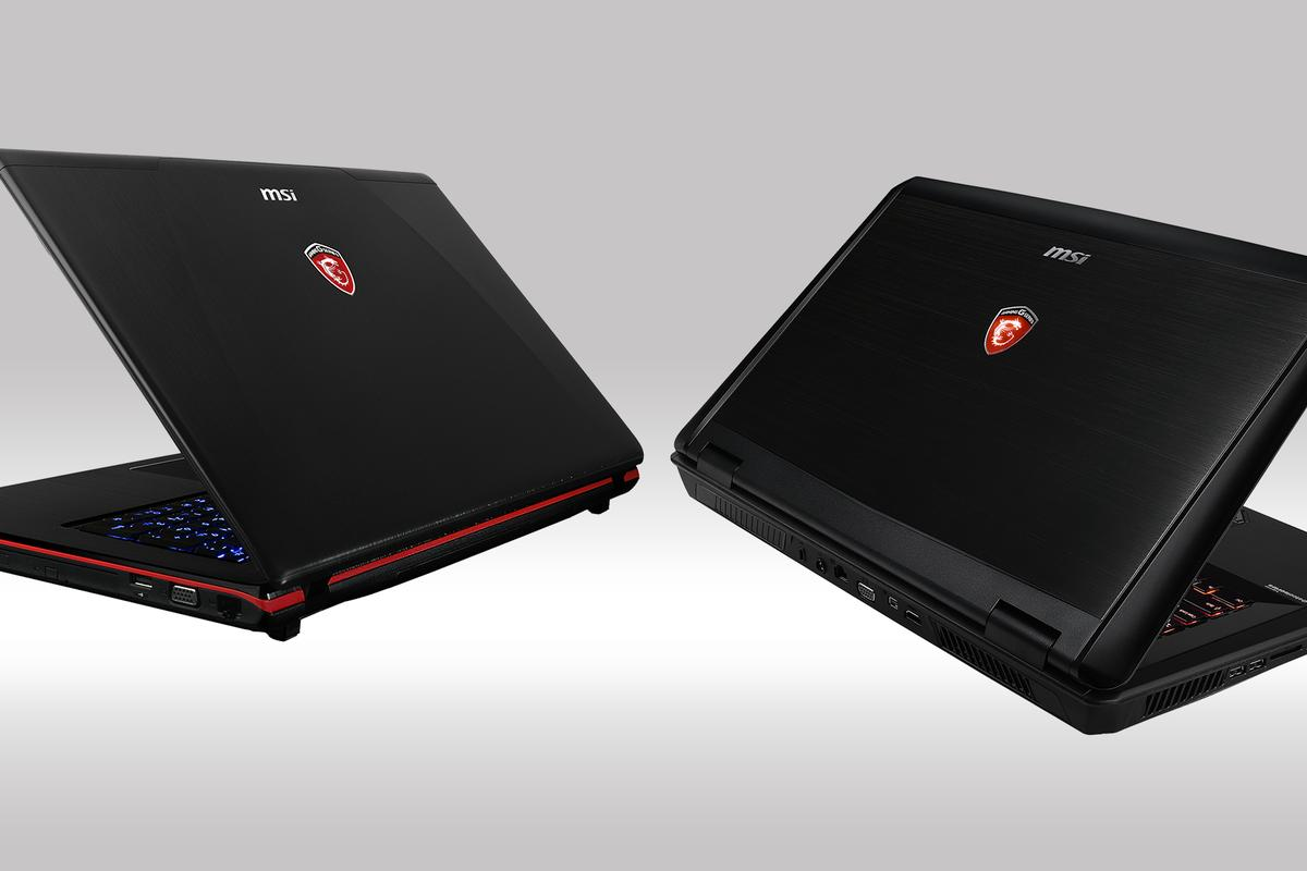 MSI's new GE Apache (left) and GT Dominator (right) laptop ranges