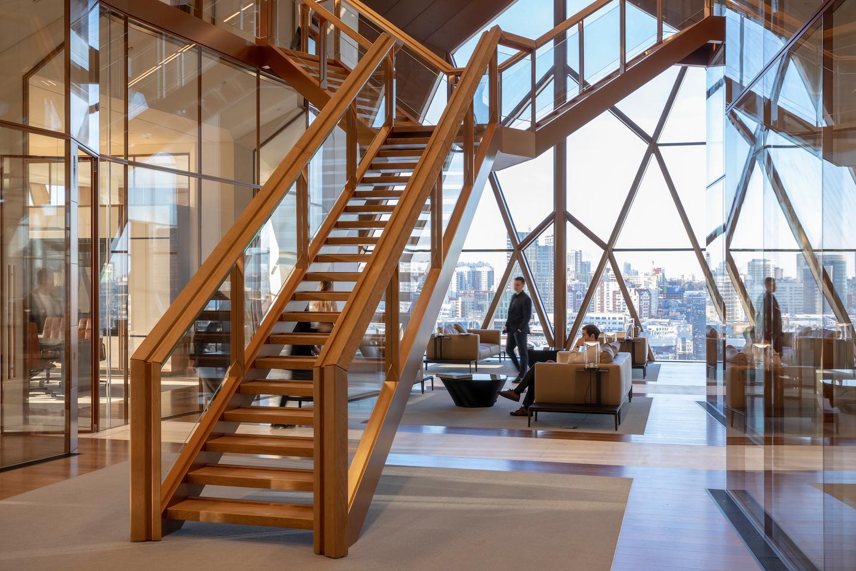The RCC Headquarters' interior measures 18,450 sq m (roughly 200,000 sq ft)