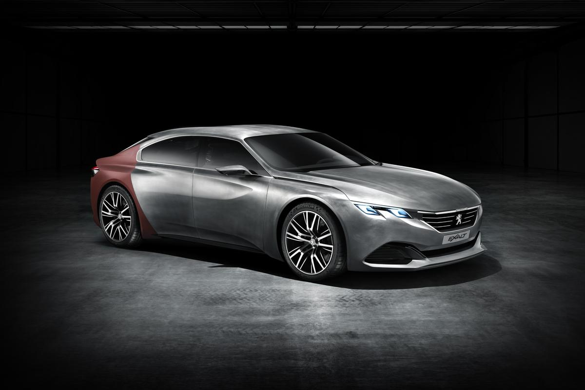 Peugeot shows the EXALT concept before its debut at the 2014 Beijing Motor Show