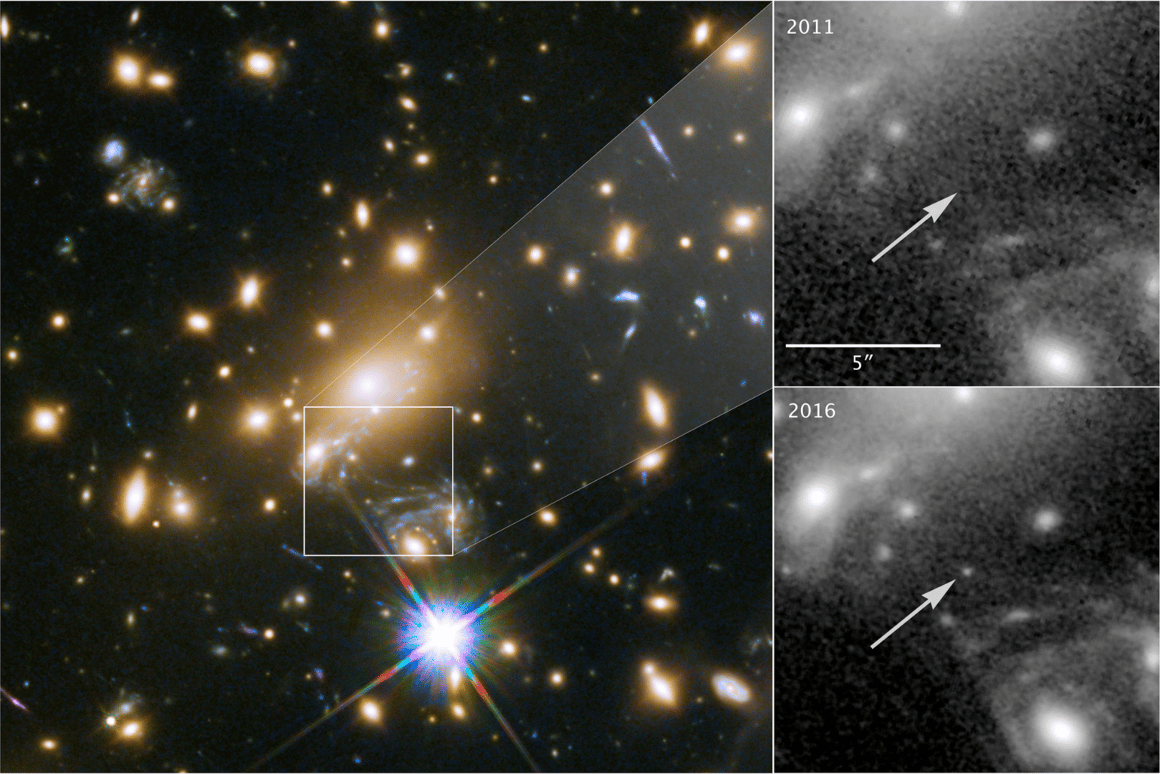 Astronomers have been able to view the most distant individual star ever thanks to the cosmic quirk of gravitational lensing