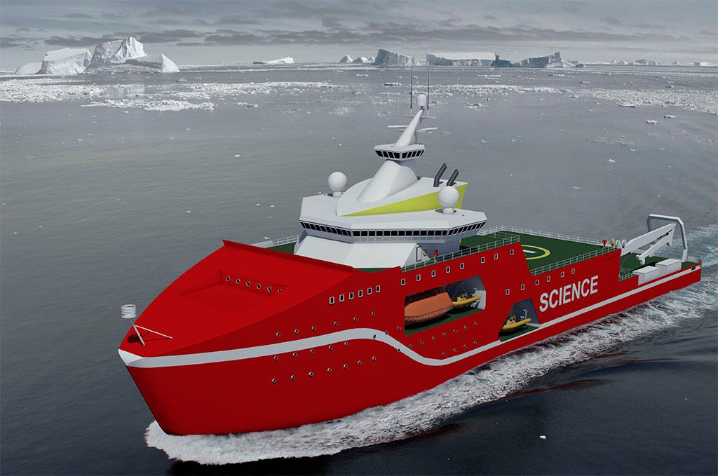 Early design concept of the new polar research ship