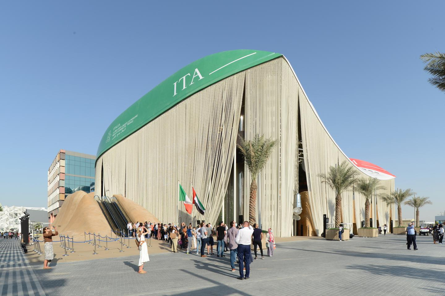 The Italian Pavilion building at Expo Dubai 2020 was constructed using three boat hulls