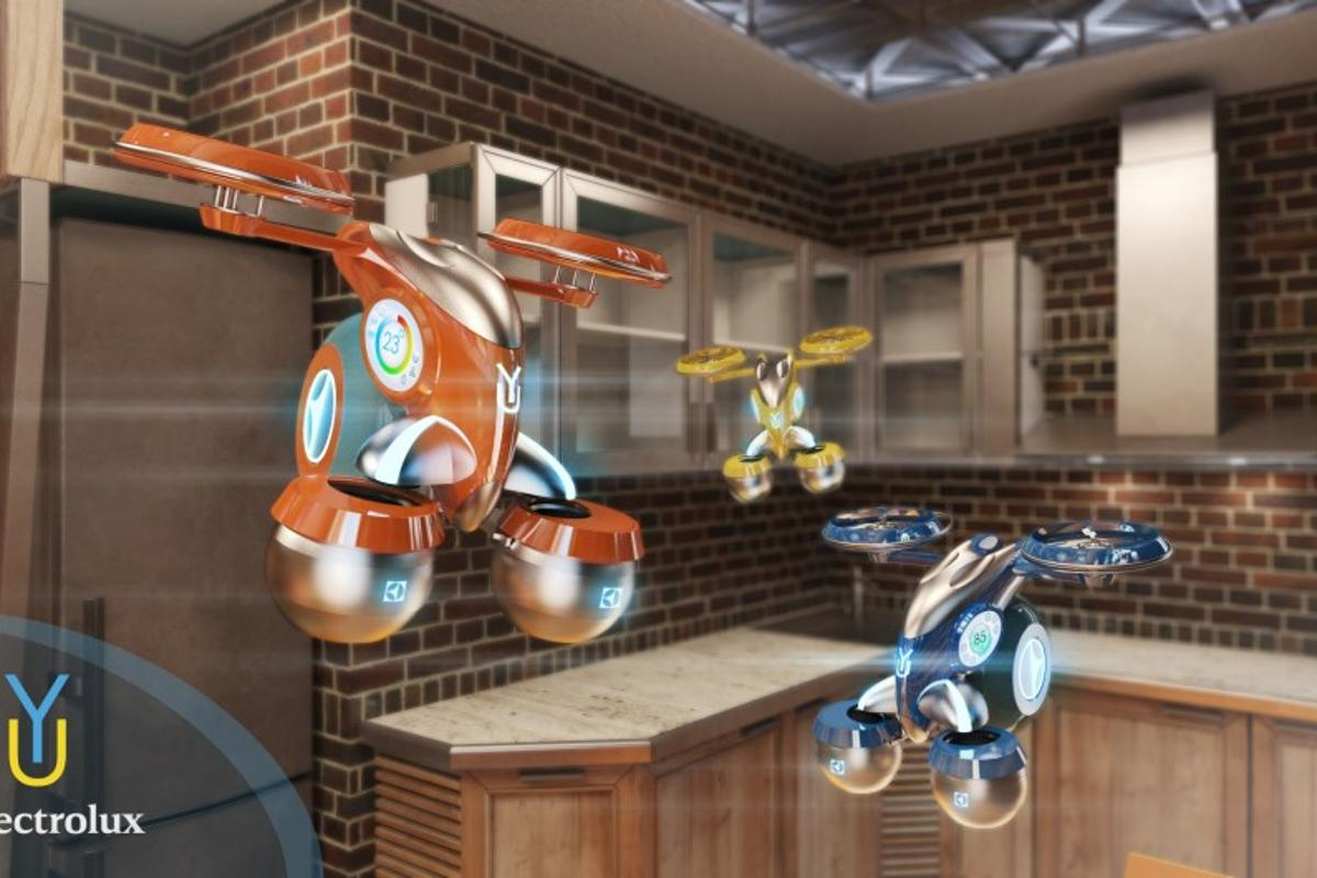 The Yura concept proposes autonomous drink-flying robots