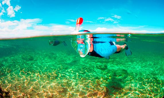 Using the Easybreath snorkel promises to feel more natural than traditional snorkeling