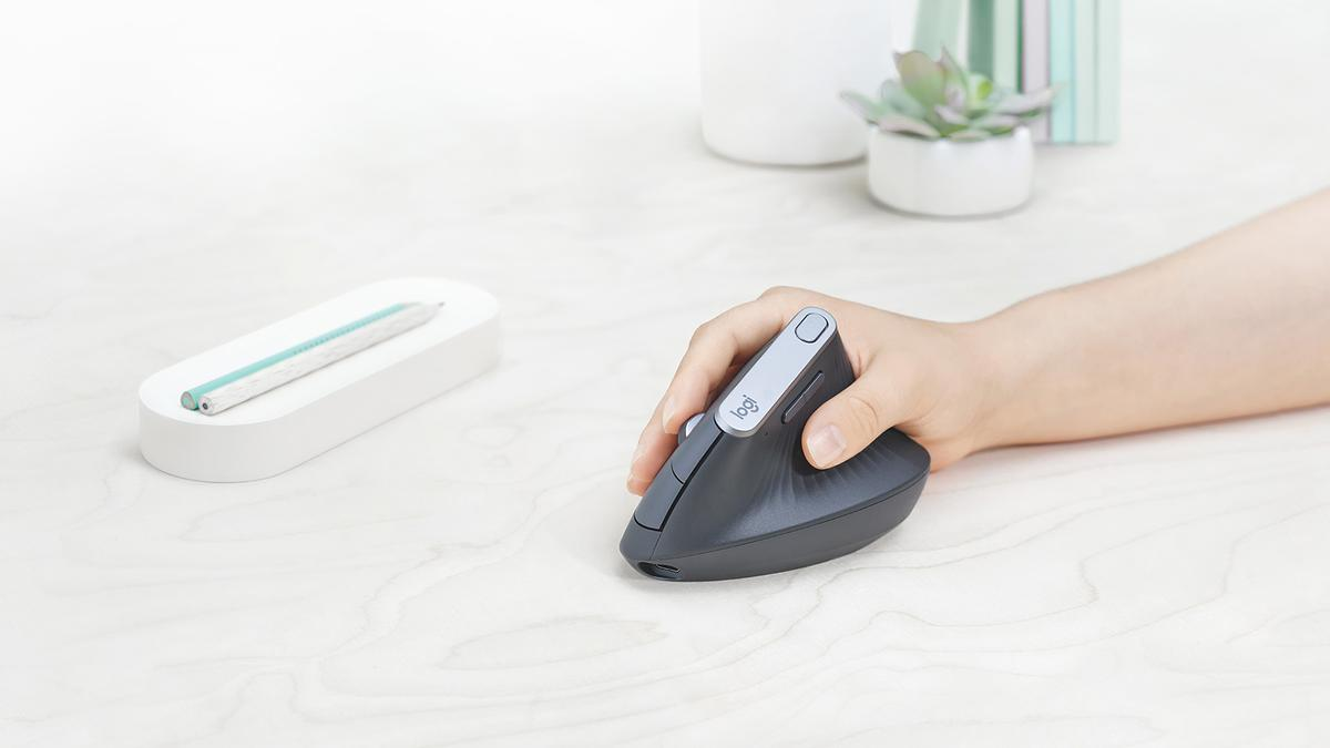 Logitech says its MXVertical mouse reduces wrist strain by 10 percent