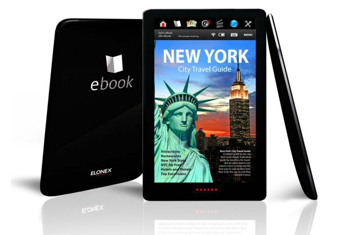 The Elonex 710EB eBook with full color LCD touchscreen display and wireless connectivity has just appeared for pre-order