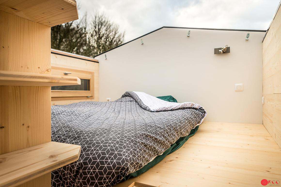 The Stéphanie's standout feature is its sliding roof, which opens up the main bedroom to the elements